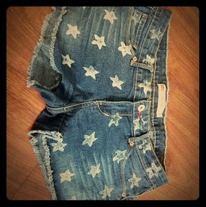 Levis star jean shorts